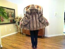 GORGEOUS COLOR CRYSTAL FOX 3/4 COAT/JACKET WITH DIRECTIONAL SLEEVES SZ MED/LG