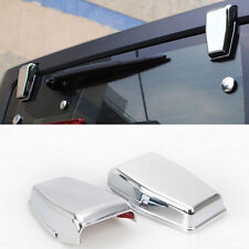 ABS Chrome Rear Upper Door Window Hinge Cover Trim for 2007-18 Jeep Wrangler JK