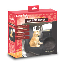 NEW Elite Pet Dog Car Seat Cover Waterproof Dual Pockets 21 x 44.5