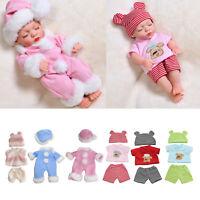 Handgemachte Baby Puppe Kleidung Kostüme Pyjamas für 30cm /11.8 ''Baby Puppen