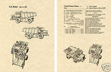 Transformers LONG HAUL Patent Art Print READY TO FRAME!! G1 Devastator DH321