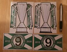 Celtic stickers 9 in a row (9iar) football championship cup