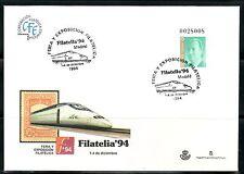 ESPAÑA SOBRE ENT.POST.1993 24  MATASELLADO FILATELIA 94 AVE