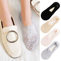 2 Pair Women Summer Thin Lace Flower Short Sock Invisible Ankle Socks Hosiery US