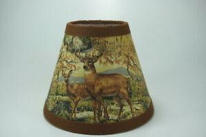 Primitive Deer Raccoon Turkey Woods Fabric Chandelier Lampshade Lamp Shade