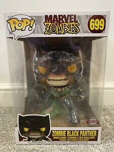 """Marvel Zombie Black Panther Bobble Head POP No 699 Special Edition 10"""" Large"""