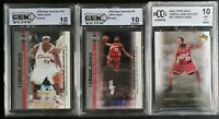 (3) 2003-04 Upper Deck LeBron James GRADED Rookie RC Lot of 3 BCCG 10 🔥🔥🔥