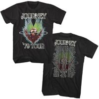 OFFICIAL Journey Evolution Tour List 1979 Men's T-shirt Rock Band Merch