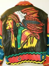 Vintage Leather Jacket Indian Chief Volcano Size XL ~ 25 Plus Years Old