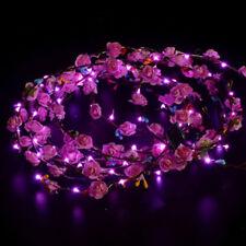 Popular LED Wedding Party Women Light Up Flower Headband Hair Wreath Garland NS
