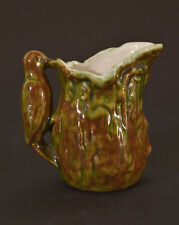 Vermont Pottery, Folk Art Rustic Creamer or Syrup Pitcher Bird Handle, Rustic