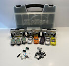 Zip Zaps RadioShack Lot Bundle Parts Remotes And Cars with Carry Case Untested