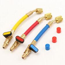 3pcs 19cm R134a R410a 800PSI Manifold Gauge A/C Refrigeration Charging Hoses Set