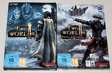 TWO WORLDS II & ADD ON PIRATES OF THE FLYING FORTRESS - PC ROLLENSPIEL RPG 2