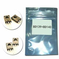 Original (10Pcs/lot) BD139+BD140 TO126 Triode Silicon 1.5A 80V PNP NPN