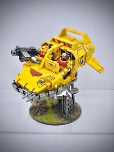 Warhammer 40,000 - Space Marine Imperial Fists Land Speeder painted
