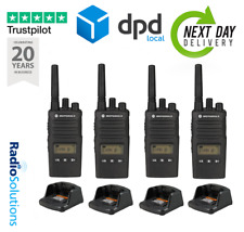 x4 MOTOROLA XT460 WALKIE TALKIE  PMR446 - TWO WAY RADIO QUAD PACK WITH CHARGER