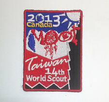 14th World Scout Moot Jamboree TAIWAN CONTINGENT BADGE Canada 2013