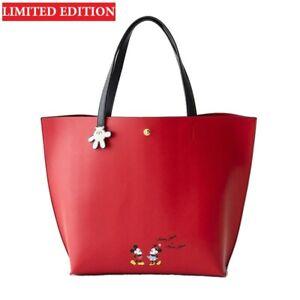 Mickey Mouse Leather Bag Disney Women Handbag Large Capacity Shoulder Tote Bag