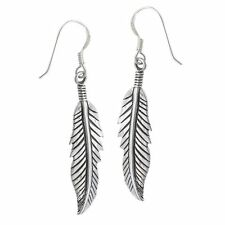 Silver Feather Earrings Dangle Drop Earring Set Feathers New Tribal Western Boho