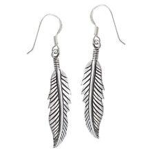 Silver Feather Earrings Dangle Drop Earring Set Feathers New Tribal Western Boho