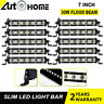 10x 7 Inch 30w Slim Flood LED Work Light Bar Single Row Offroad Lamp 4x4 20/22