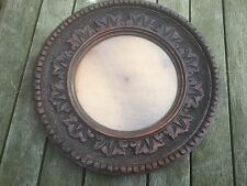 black forest ornate dark oak round frame with glass