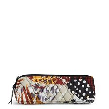 Vera Bradley Brush & Pencil Makeup Case in Painted Feathers NWT