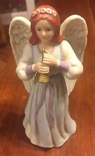 "Angel Figurine Statue Heavenly Duet 1422 Home Interior porcelain 61/2"" blue"