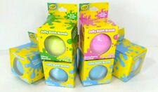 6 Scented Crayola Jelly Bath Bombs, Turns Bath Water Gooey for Girls or Boys New