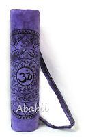Large Purple Yoga Mat Bag Om Printed Gym Mat Carrier Bags With Shoulder Strap