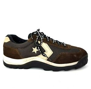 Converse Mens Trainers UK 9 Brown Leather Canvas Chuck Taylor