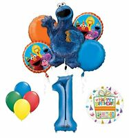 Cookie Monsters Sesame Street 1st Birthday party supplies
