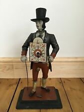Antique Old German Swiss Polychrome Figural Clock