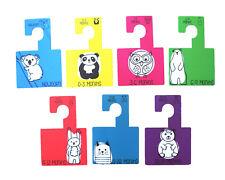 Katies Playpen Baby Clothes Wardrobe Dividers Organisers Hangers -Bright Animals