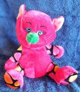 *1807b*  Bright pink kitty cat -  Elka Australia - plush toy - 17cm