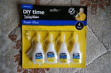 DIY Time SUPERGLUE 4 MULTIPACK,REPAIR WOOD,METAL,CERAMIC,LEATHER, ADHESIVE