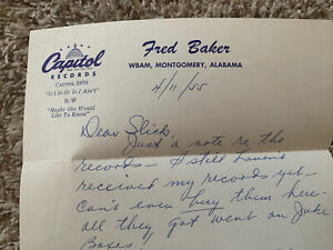 1955 WBAM Montgomery Alabama Letter Capitol Records