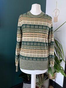 Jaeger Vintage 70s  Green Knit Jumper Size 10/12 Wool