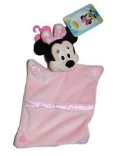 NEW Baby's Disney Minnie Mouse Plush Pink Little Blanket Softie 6x10""