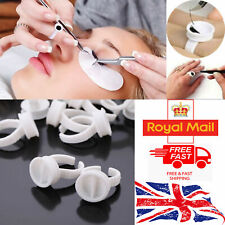 Glue Ring Eye Lash Extension Finger Glue Ink Holder Eyelash Disposable Rings UK.