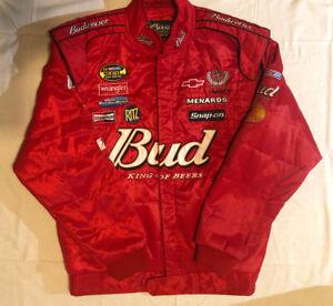 Nascar Budweiser Dale Earnhardt Sr. Jacket Chase Authentics Drivers Line Size L