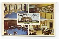 Orsett Hall, Essex - destroyed by fire, rebuilt - c1970's multiview postcard