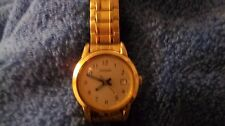 Pulsar Ladies Oval Gold Tone Stretch Expansion Bracelet Watch Easy to Read