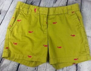 NEW! J Crew Chino Weathered City Fit Shorts Sz 4 Whale Green Pink