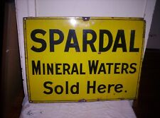SPARDAL MINERAL WATERS ENAMEL SIGN