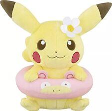 NEW Pokemon Japan Pikachu Big Plush Happy Beach Time Ichiban Kuji Swim Slowpoke