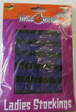 (RO) Purple and black striped halloween ladies stockings - fancy dress