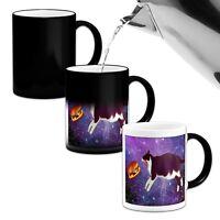 Space Burger Cat Funny Heat Colour Changing Mug