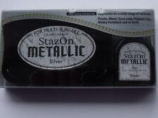 StazOn Silver Metallic Ink Kit - Pad & Refill  432724